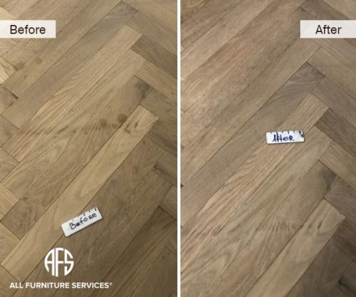 Hardwood floor damage scratch stain mark accident repair clean patch sand touch up fill finish restore