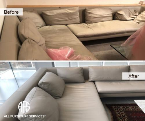 Sectional Couch Chair Sofa Cushions Seats Backs Pillows Padding Foam Core Replacement  adding dacron leather dyeing maintenance improvement