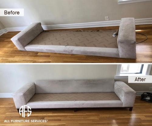 Sofa Couch Disassembly Assembly Take Apart moving fit upholstered fabric remove arm back seat