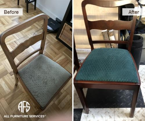dining chair seat replace reupholster refinish restore lose frame finish