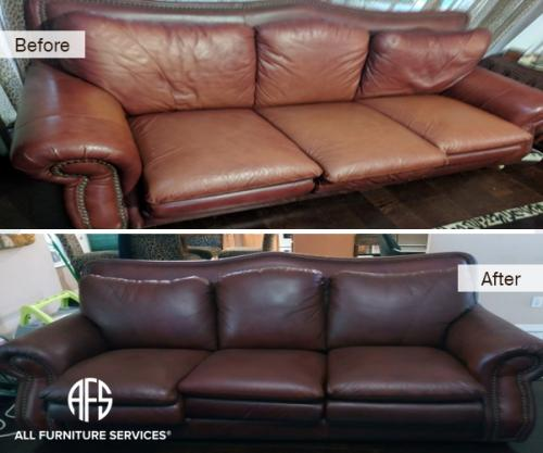leather sofa color change restoration dyeing  matching repair discoloration faded peeling material
